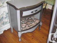 5 drawer all wood, painted dresser with night table