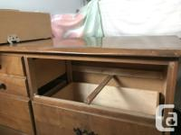 Gently used, solid wood dresser, dovetail drawers