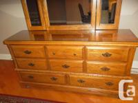 For Sale: Beautiful solid wood Dresser with matching