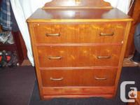 This is an antique piece, 1940's (or earlier). Three