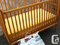I have a drop side crib with mattress, also barn yard