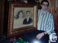This portrait was thrown into a mobile home that was