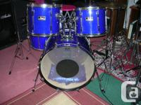 Pearl Export Series blue 5 pc drum set mid 90's I