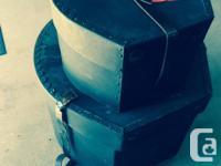 Set of 5 drum cases (2 hard & 3 soft) for sale. -Hard