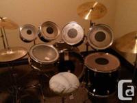 Drum Set - by Westbury. Includes 7 drums, Zildjian