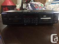 Sony Dual Cassette Player/Recorder in great condition.