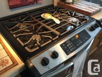 Dual duel gas/electric stove/range Sears Professional