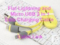 Dual-port Lightning & Micro USB 2in1 Data Sync Charging