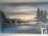 45 inches wide and 25 inches high Original Landscape