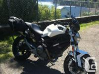 2012 ducati monster, ducati saddle bags, rizoma bar end