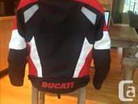 DUCATI JACKET BY REV'IT! Size: Medium Fixed polyester