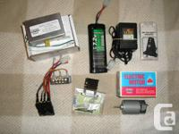 RC radio, Dumas electric motor, speed control and