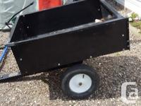 Tilt Dump trailer for garden tractor good for small