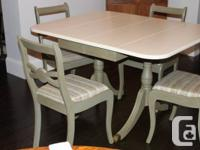 Canadian made solid wood table with two added leaves