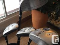 Dunlop Golf Club Set, Bag and Cart. Right-handed. Used,