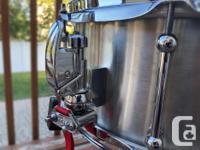 Dunnett Stainless Steel Snare Drum 14x6.5� Like new