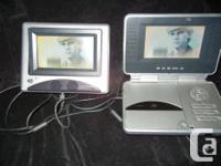 Dual Screen - Portable DVD Player with Car Kit: Dual