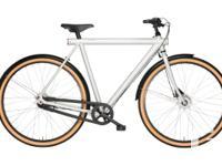 The VANMOOF 3.7 City Bike has a striking light weight