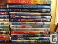 DVD collection, few blu ray. Bunches of kids movies.