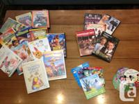 A collection of popular children's DVDs. All for $30.