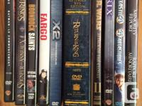 Great selection of DVDs in excellent shape. Highlights