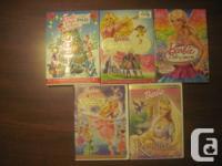 Various DVD's/Wii Games  Barbie & Disney - $5 each or 3