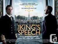 THE KING'S SPEECH -- 2 DVDs (Movie + Special Features)