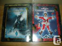 Christmas DVDs- Polar Express (animated for children) &