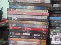 Dvds $2 each or 6 for $10 Vhs tapeS whole box for $15