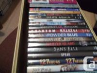 I have a little collection of DVDs available for sale.