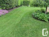 21 inch wide path for mowing and mulching. with rear