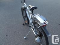 This electric bike runs well, its a 24 volt system,