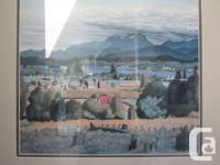 E.J. Hughes print of the Comox Valley. Professionally