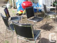 30 High quality stacking chairs Black upholstery