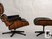 The Eames Lounge Chair & Ottoman in Genuine 100%