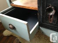 An adjustable MOULTHROP Vintage School desk with drawer