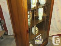 THIS CHINA CABINET IS 24 INCHES WIDE, 13 1/2 INCHES