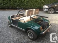 "Have an early 90's gas ""Club Car DS"" Golf Cart in good"