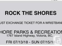 I am selling a ticket to the Rock the Shores music