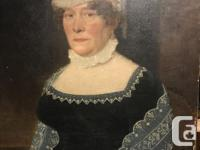 c-1860 oil on canvas - portrait of Jessie Huggins by