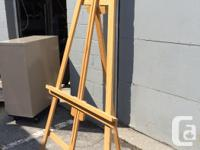 "Wood Easels for sale. These easels measure 82"" high, at"