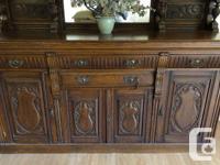 Original, antique Victorian sideboard, Eastlake style,