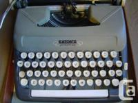 Eaton's Prestige Portable Manual Typewriter, Two-Toned,
