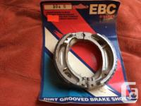 Brand new in package. Grooved brake shoes for Honda