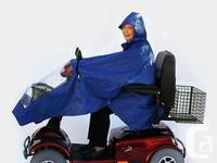 Scooter Hooded Raincoat Poncho Feature *Adjustable hood