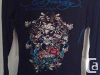 Size S Authentic Ed Hardy Christian Audigier rhinestone