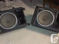 Eden 15 inch wedge monitors crossover with big horns