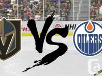Edmonton Oilers vs. Vegas Golden Knights Rogers Place @