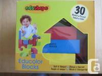 Educolor Blocks (30), brand new, soft    $15  Alphabet