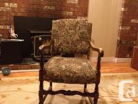 Old chair from the 30's , has been reupholstered ( not